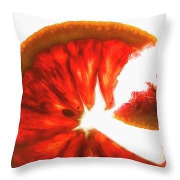 Pink Grapefruit, Backlit Throw Pillow