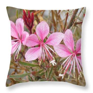 Pink Guara Throw Pillow