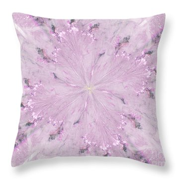 Throw Pillow featuring the digital art Pink Hibiscus by Victoria Harrington
