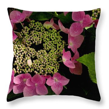 Throw Pillow featuring the photograph Pink Hydrangea by James C Thomas