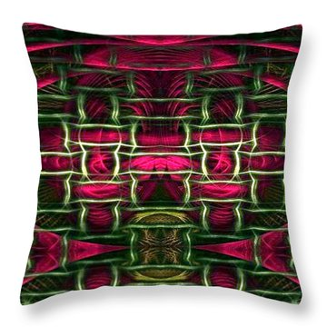 Throw Pillow featuring the painting Pink Illusion by Rafael Salazar