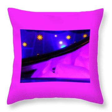 Pink In The Cosmos Throw Pillow by James Welch