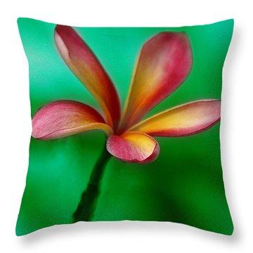Pink Jasmin Throw Pillow