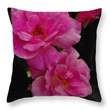Throw Pillow featuring the photograph Pink Knock Outs by James C Thomas