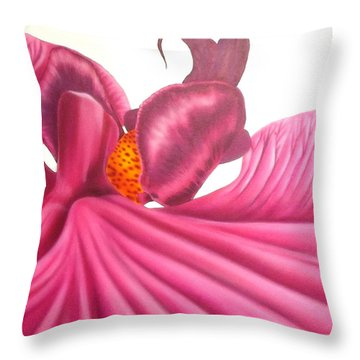 Pink Lady Square Dance Throw Pillow by Darren Robinson