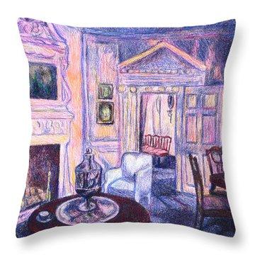 Pink Light At Mount Vernon Throw Pillow by Kendall Kessler