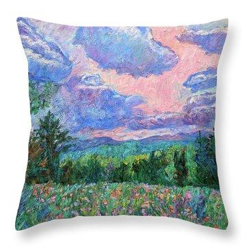 Pink Light Throw Pillow by Kendall Kessler