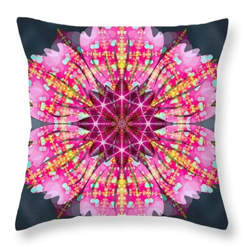 Pink Lightning Throw Pillow by Derek Gedney
