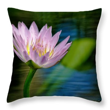 Purple Petals Lotus Flower Impressionism Throw Pillow