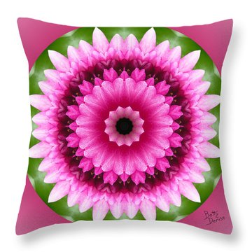 Throw Pillow featuring the photograph Pink Lotus Kaleidoscope by Betty Denise