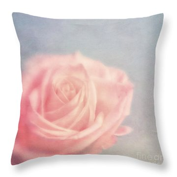 pink moments I Throw Pillow by Priska Wettstein