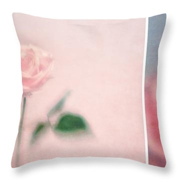 Pink Moments Throw Pillow by Priska Wettstein
