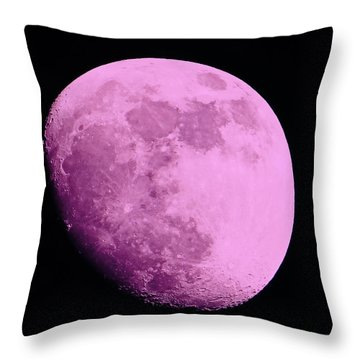 Pink Moon Throw Pillow by Tom Gari Gallery-Three-Photography
