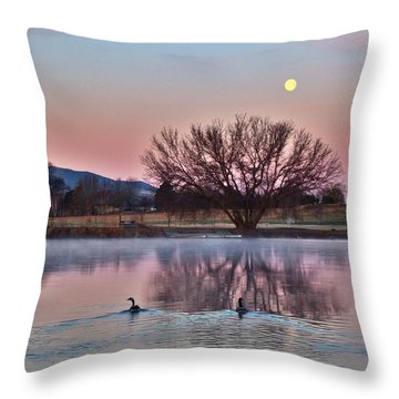 Throw Pillow featuring the photograph Pink Morning by Lynn Hopwood