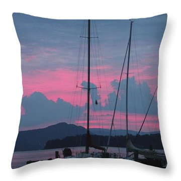 Pink Night Throw Pillow