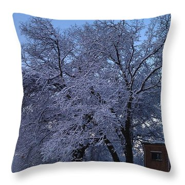 Pink Oak Throw Pillow