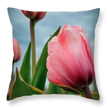 Throw Pillow featuring the photograph Pink Passion by Athena Mckinzie