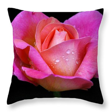 Throw Pillow featuring the photograph Pink Pearl by Doug Norkum