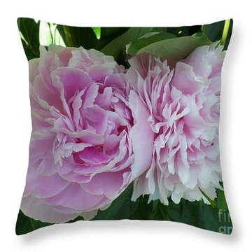 Pink Peonies 2 Throw Pillow