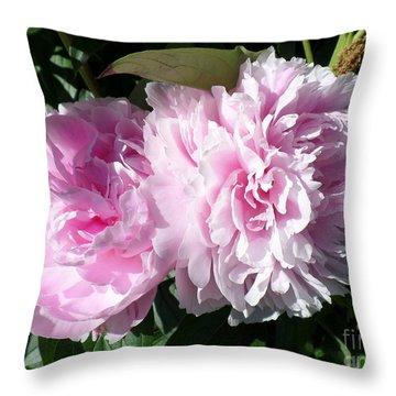 Pink Peonies 3 Throw Pillow