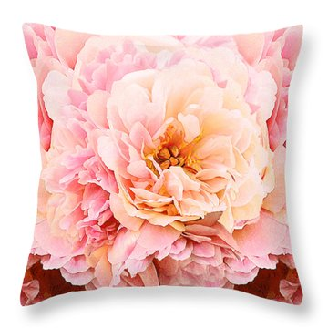 Pink Peony Throw Pillow by Michele Avanti