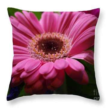Pink Petal Explosion Throw Pillow