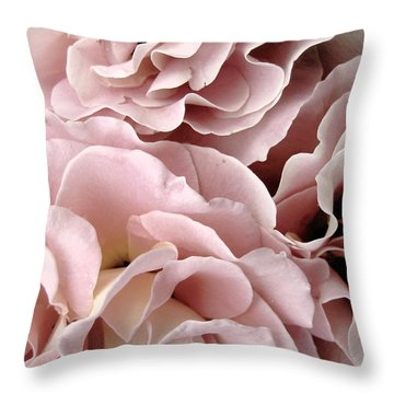 Pink Petal Profusion Throw Pillow by Ann Powell