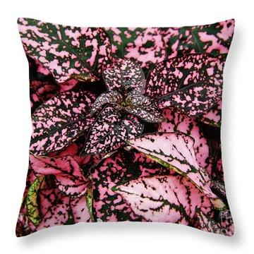 Pink - Plant - Petals Throw Pillow