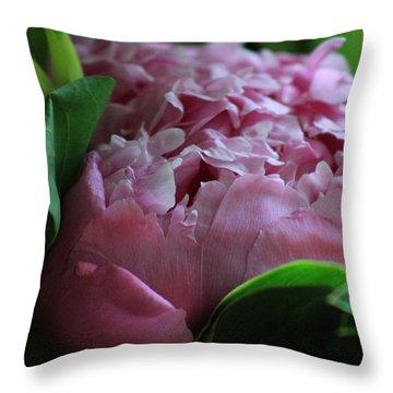 Pink Petals Throw Pillow