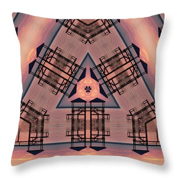 Pink Pier Kaleidoscope One Throw Pillow
