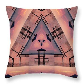 Pink Pier Kaleidoscope Two  Throw Pillow