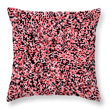 Pink Pixels Throw Pillow