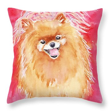Pink Pom Throw Pillow