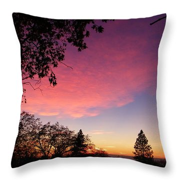 Pink Powder Puff Throw Pillow