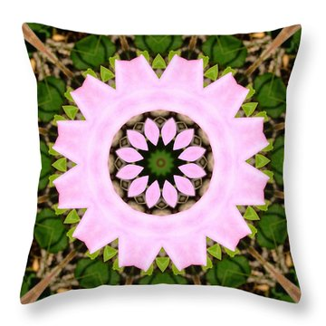 Throw Pillow featuring the photograph Pink Prairie Rose by Scott Kingery