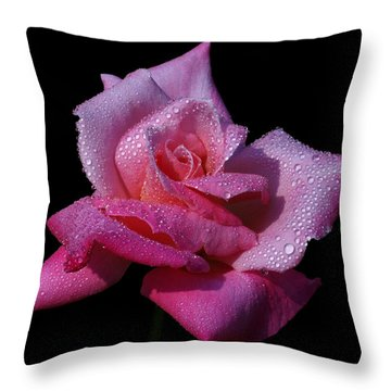 Throw Pillow featuring the photograph Fuchsia by Doug Norkum