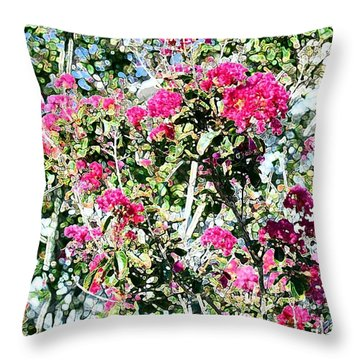 Pink Profusion Throw Pillow by Ellen O'Reilly