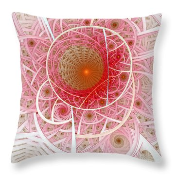 Pink Punk Throw Pillow by Shari Nees