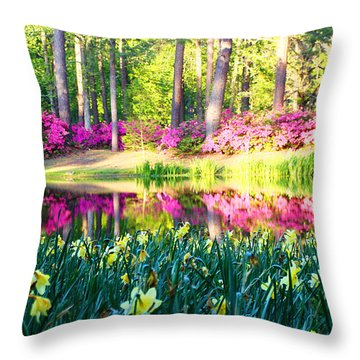 Pink Reflections By Jan Marvin Throw Pillow