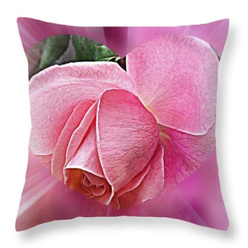 Pink Ribbons Of Light Throw Pillow