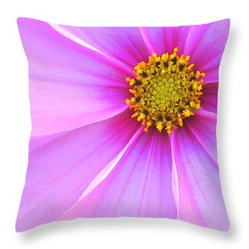 Pink Ribbons Throw Pillow by Tracy Male