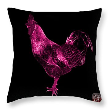 Pink Rooster 3186 F Throw Pillow by James Ahn
