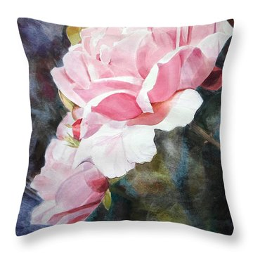 Pink Rose Caroline Throw Pillow