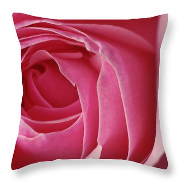 Pink Rose Dof Throw Pillow