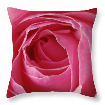 Pink Rose Dof Throw Pillow by Arthur Fix