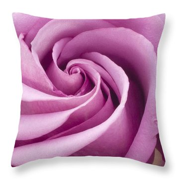 Pink Rose Folded To Perfection Throw Pillow by Sandra Foster