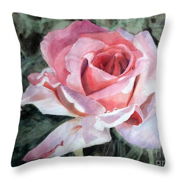 Pink Rose Greg Throw Pillow