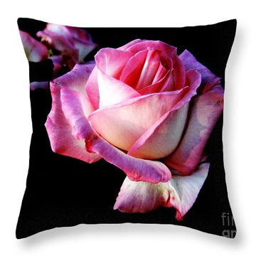 Pink Rose  Throw Pillow by Leanne Seymour