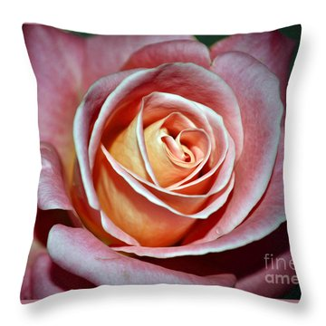 Throw Pillow featuring the photograph Pink Rose by Savannah Gibbs