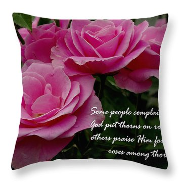 Roses And Thorns Throw Pillow